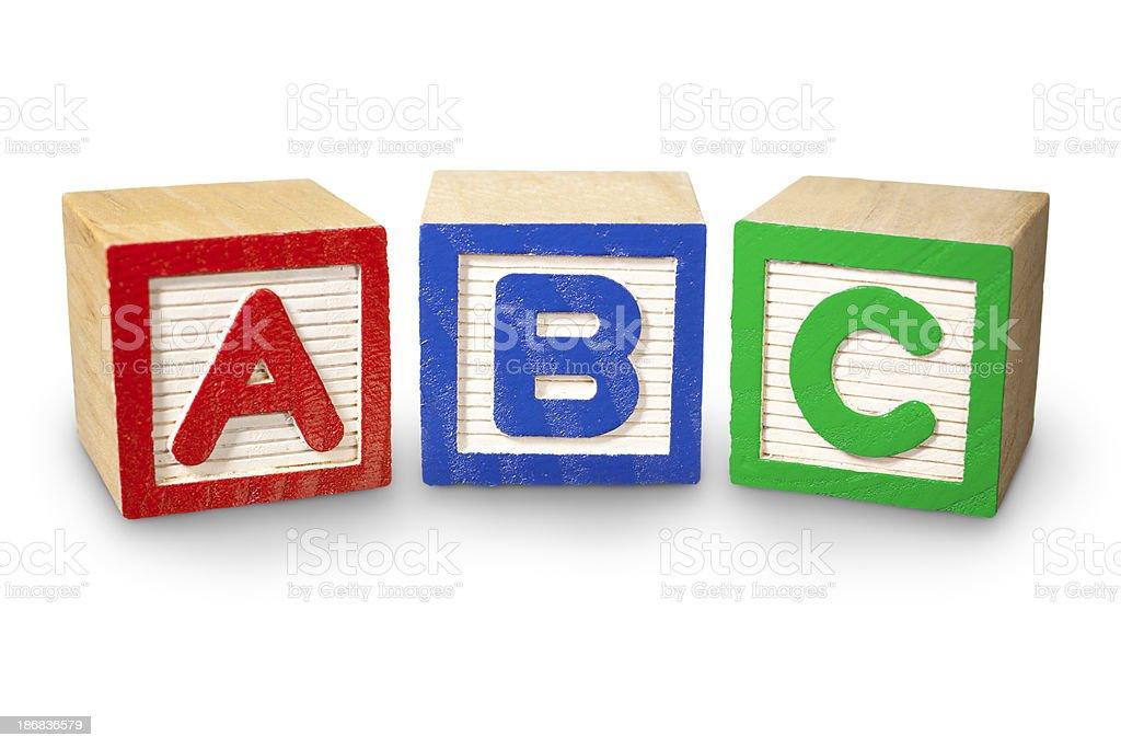 Costruzione di blocchi di ABC - foto stock