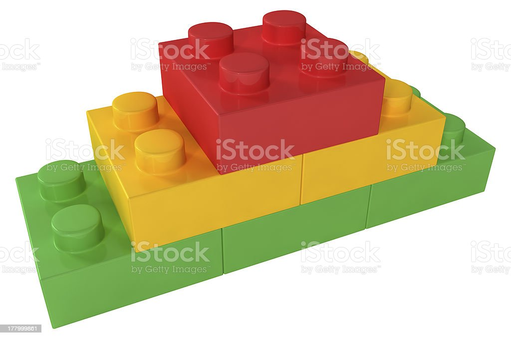 Building Blocks Pyramid royalty-free stock photo