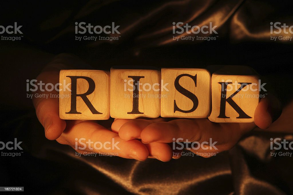 Building Blocks - Risk Building blocks spelling out risk Alphabet Stock Photo