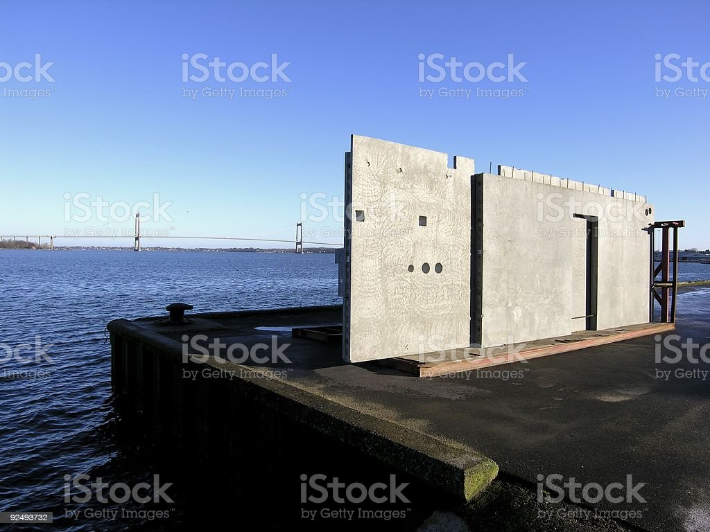 Building Blocks Sky Blue royalty-free stock photo