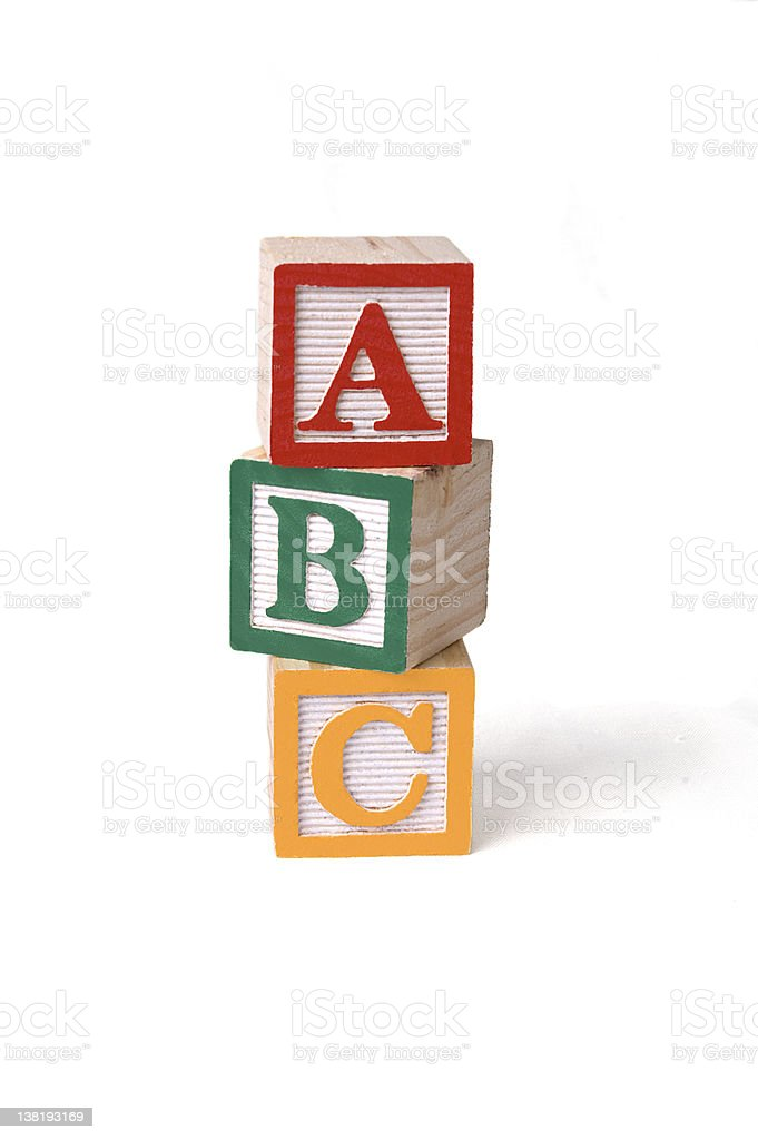Building blocks stacked stock photo