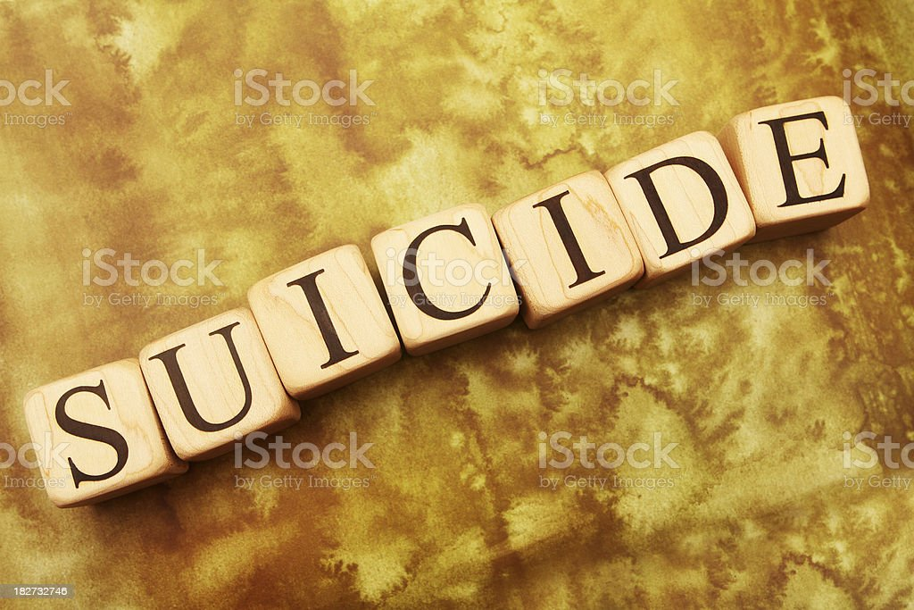 Building Blocks - Suicide royalty-free stock photo