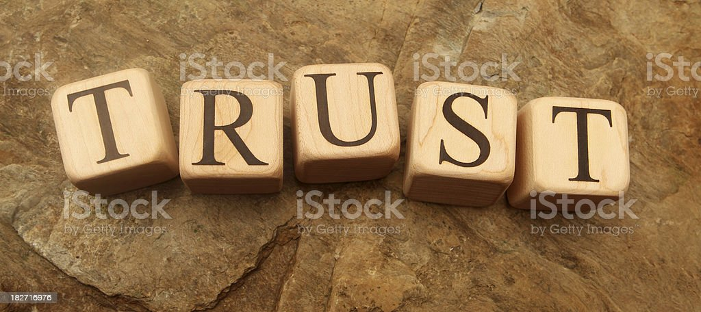 Building Blocks - Trust royalty-free stock photo