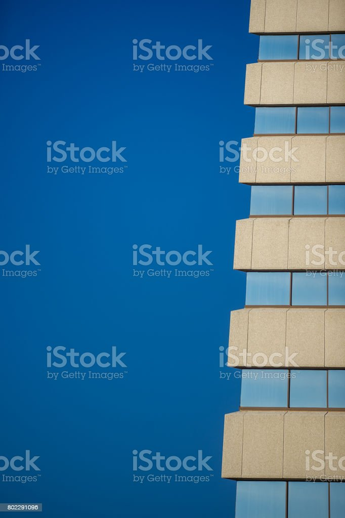 Building Blue stock photo