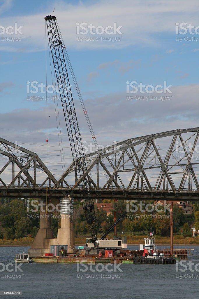 Building Bridge Pier royalty-free stock photo