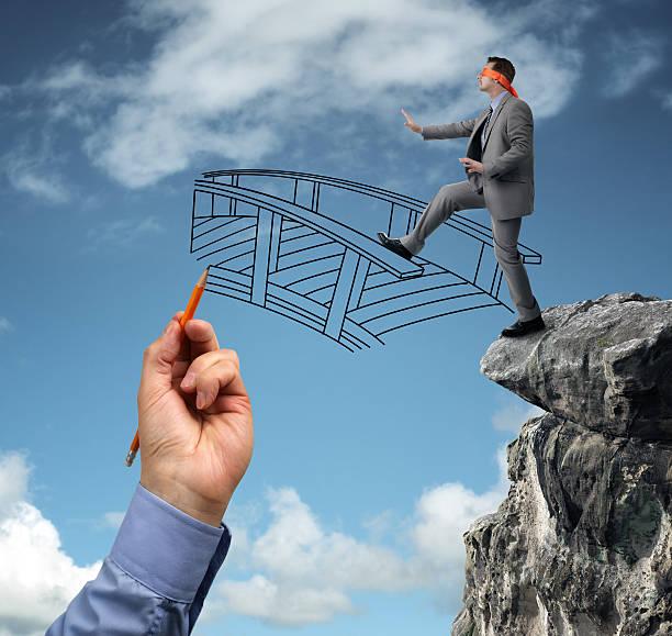 Building bridges - assistance for business stock photo