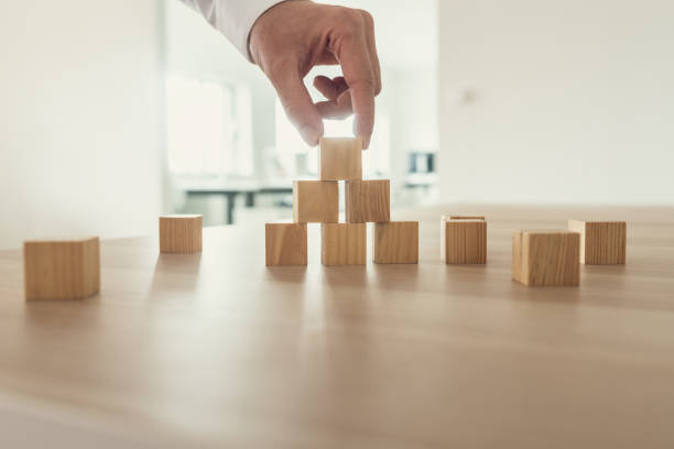 Building business and strategy concept stock photo