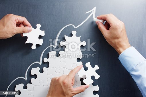 istock Building business. Concept image of developing growth strategy. 543081358