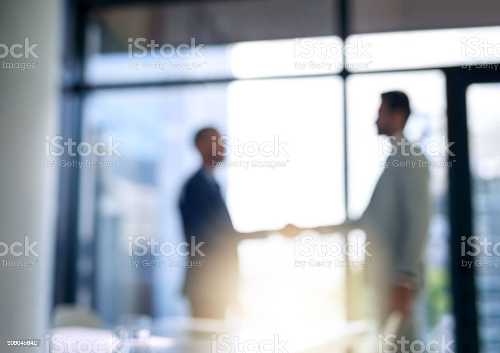 Building business relationships - foto stock