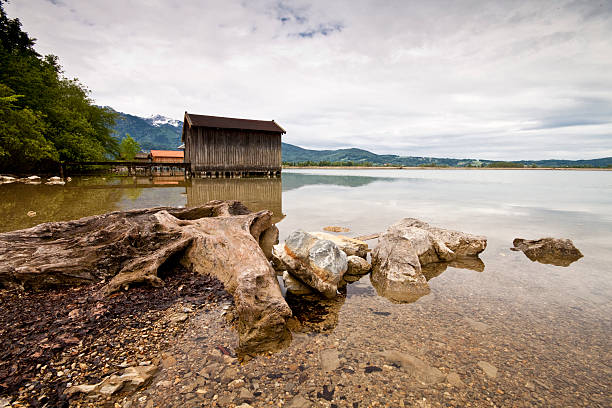 Building by a Lake in Germany stock photo