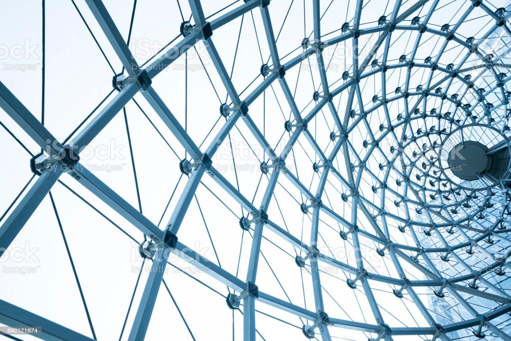 Gebäude Konstruktion aus Stahl Rahmen im Freien – Foto