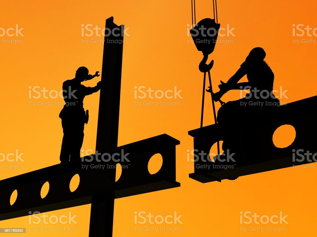 Building construction. stock photo