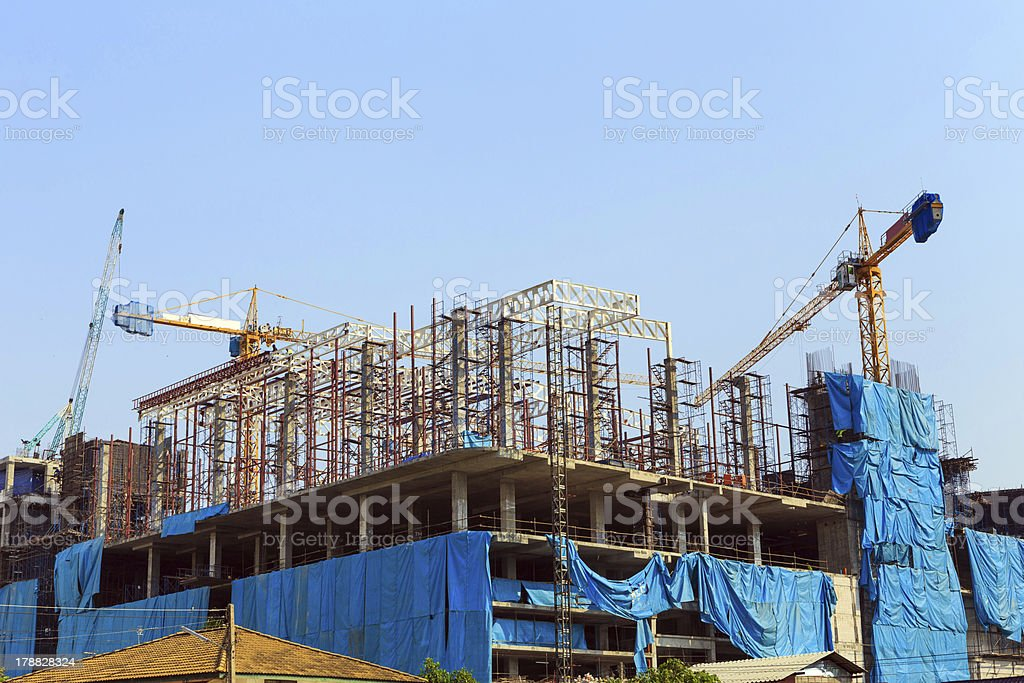 building construction sit royalty-free stock photo