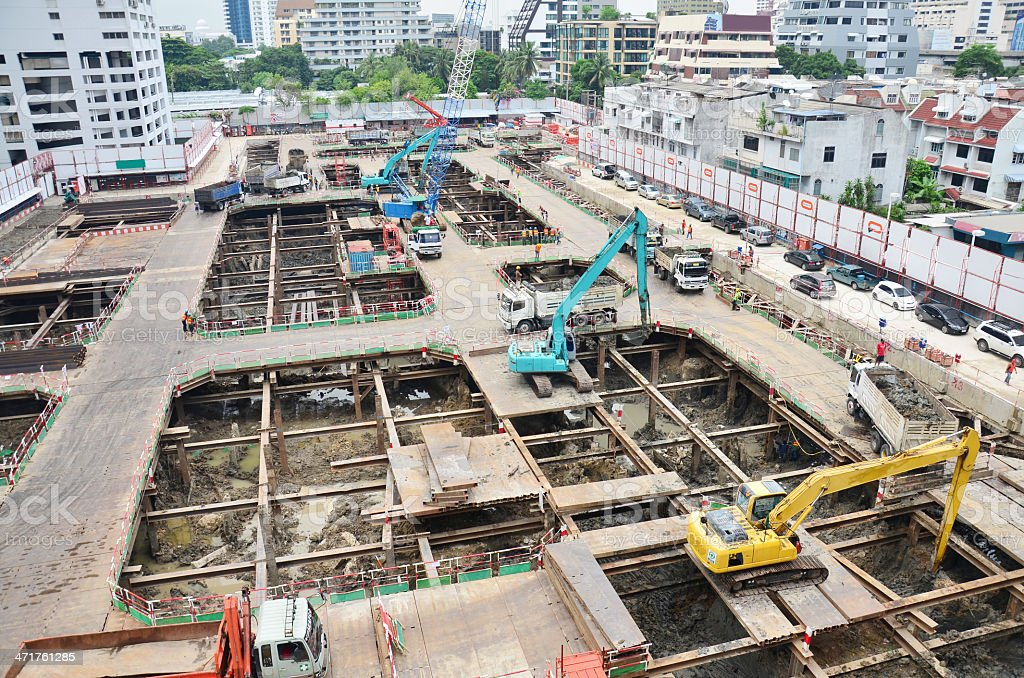Building construction Site at Thailand royalty-free stock photo
