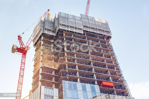 Construction site of a new development in London, United Kingdom