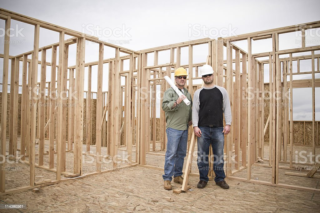 Building Contractors Wide Angle royalty-free stock photo