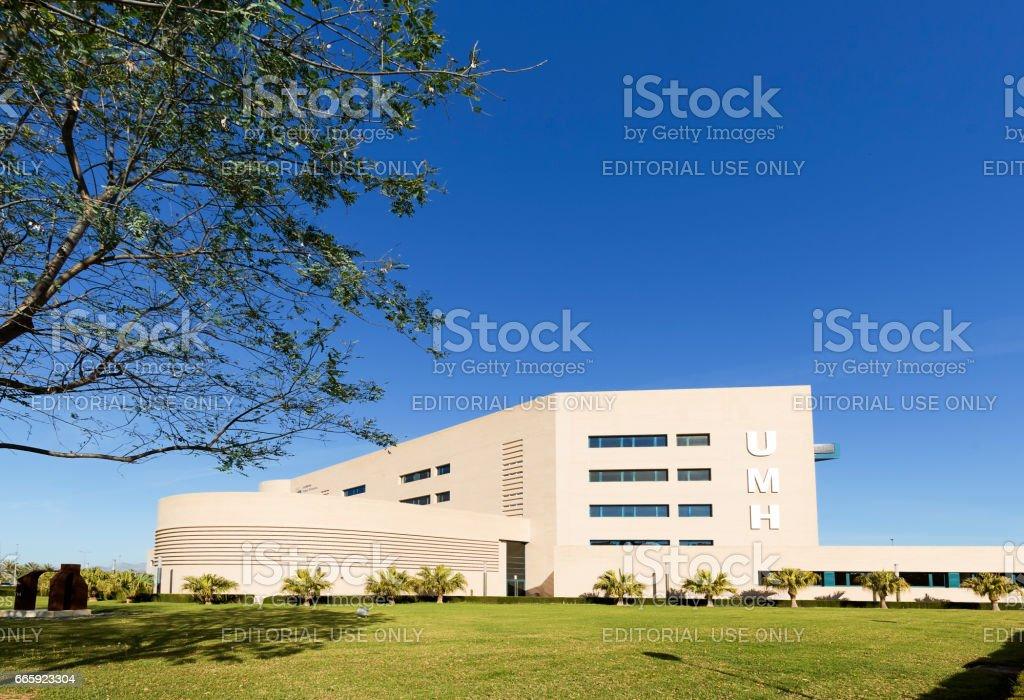 Building corresponding to the Miguel Hernandez University of Elche foto stock royalty-free