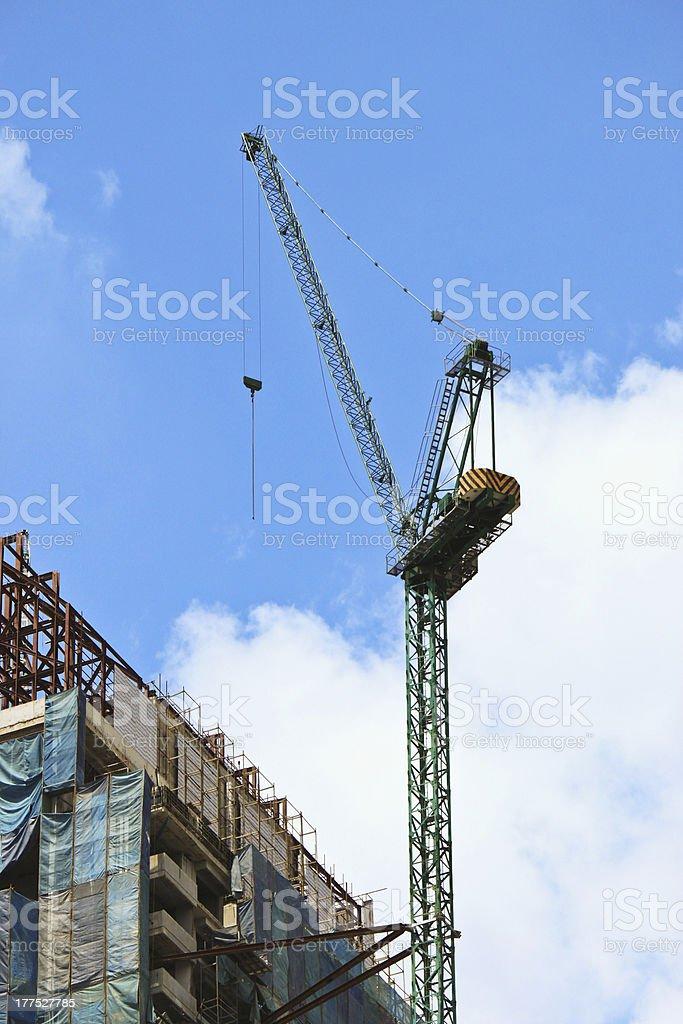 Building crane royalty-free stock photo