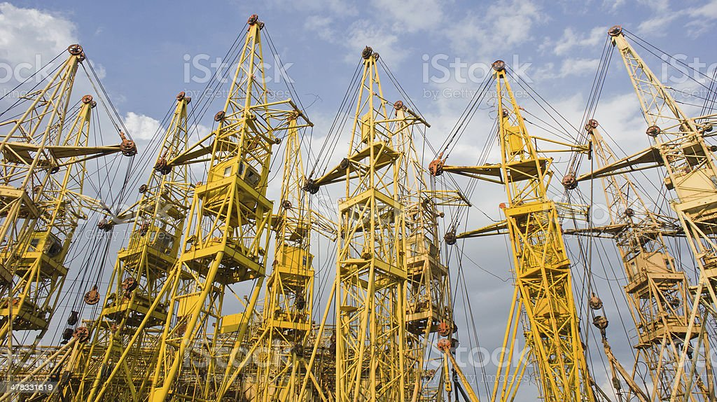 Building cranes royalty-free stock photo