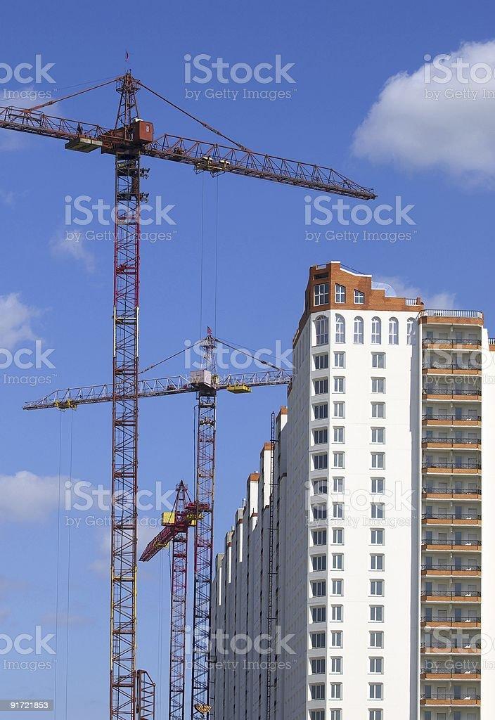 Building cranes stock photo