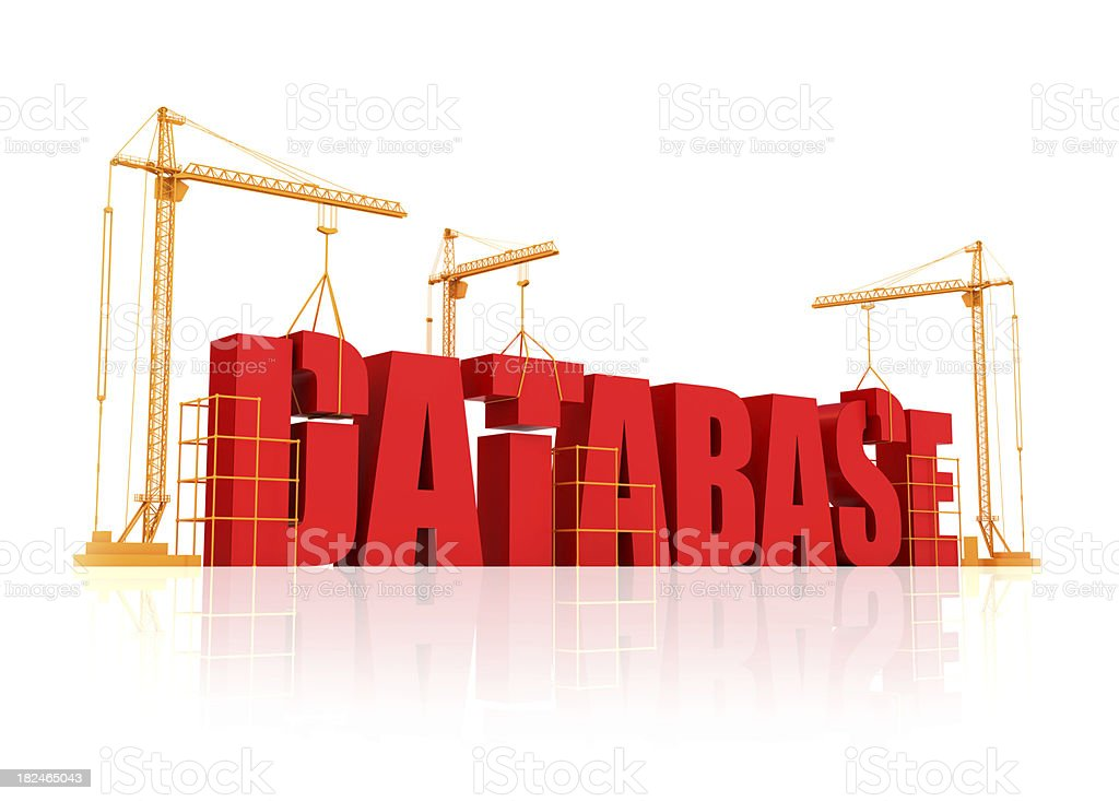 Building Database royalty-free stock photo