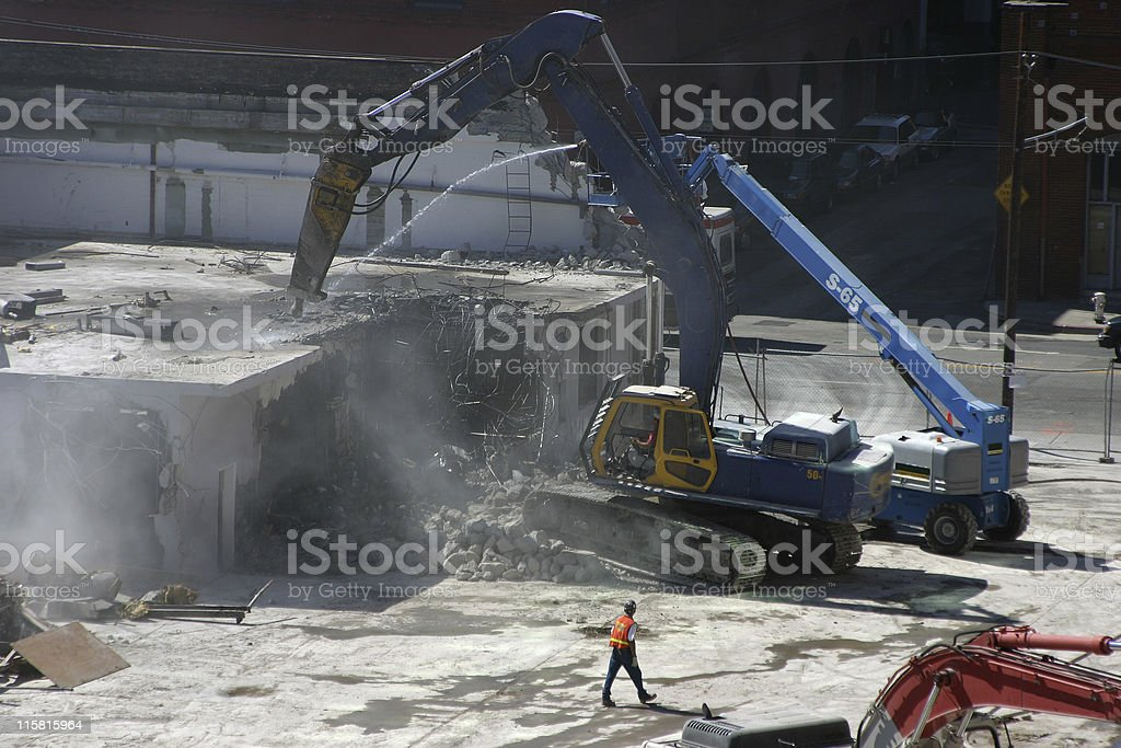 Building Demolition stock photo