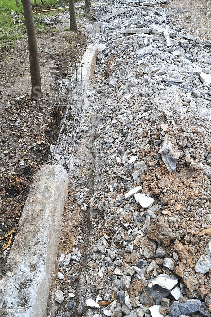 Building Demolition royalty-free stock photo