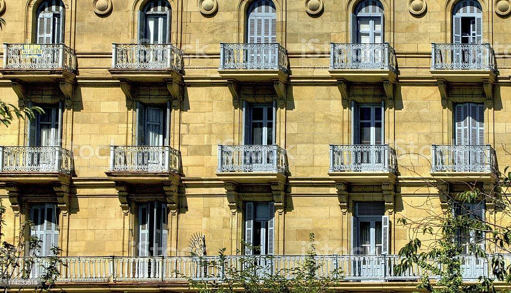Building detail of San Sebastian royalty-free stock photo