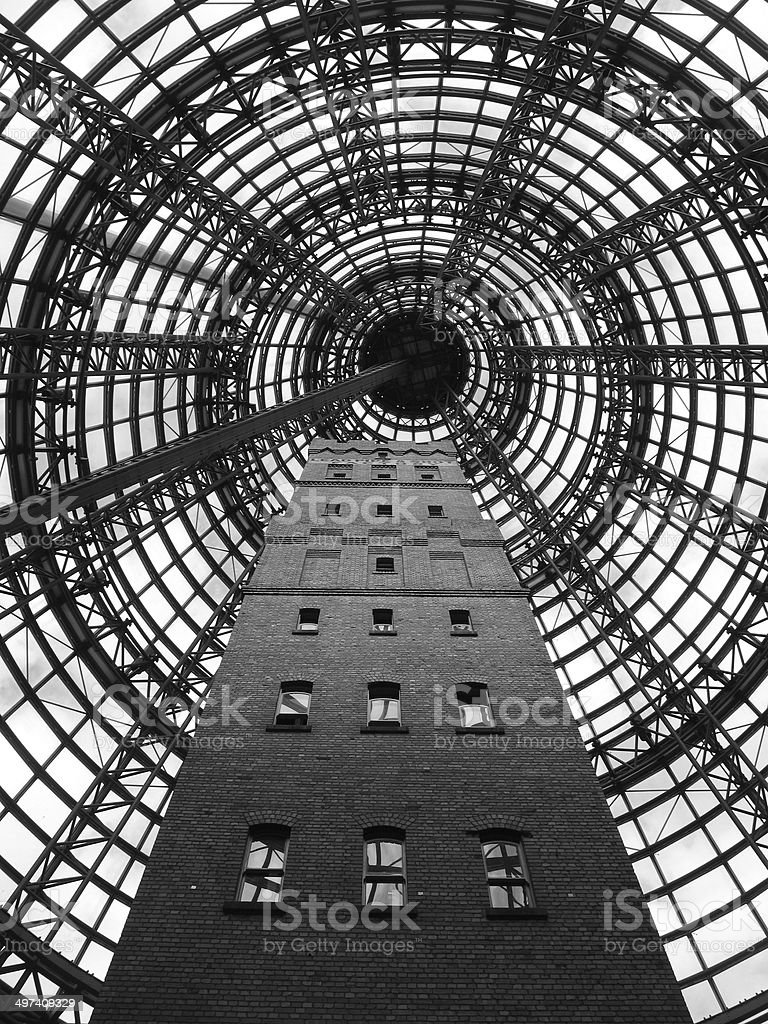 Building Dome - B/W stock photo