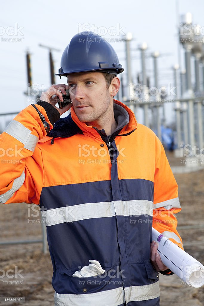 Building electricity substation royalty-free stock photo