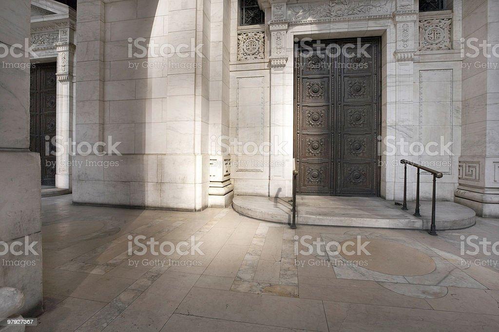 Building Entrance, New York City royalty-free stock photo