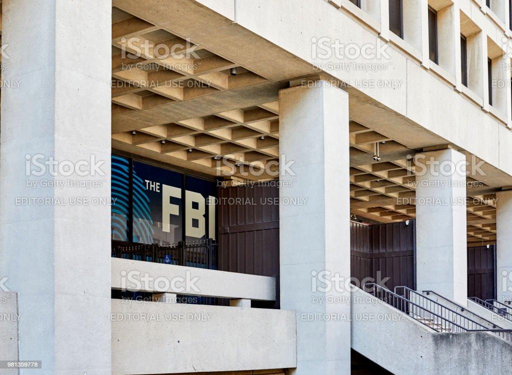 FBI Building Entrance stock photo