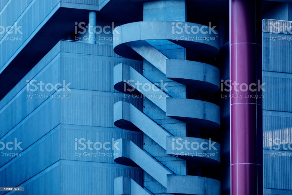 building exterior detail in downtown of Atlanta stock photo