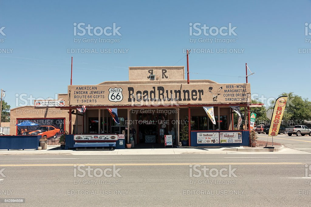 Building Exterior near route 66 stock photo