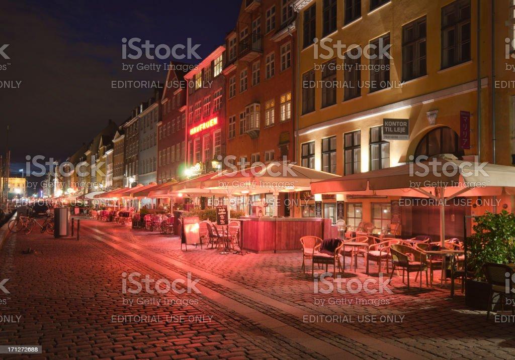 Building exterior structure in a Nyhavn harbour - Copenhagen royalty-free stock photo
