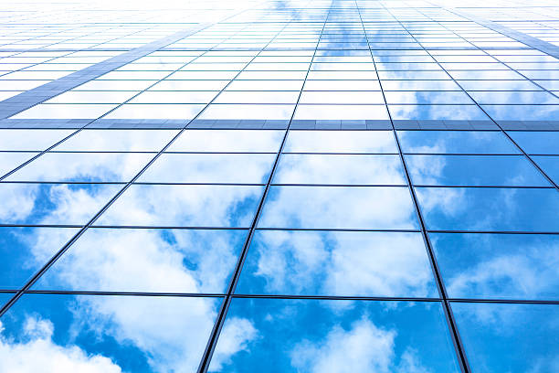 Building facade - low angle view stock photo