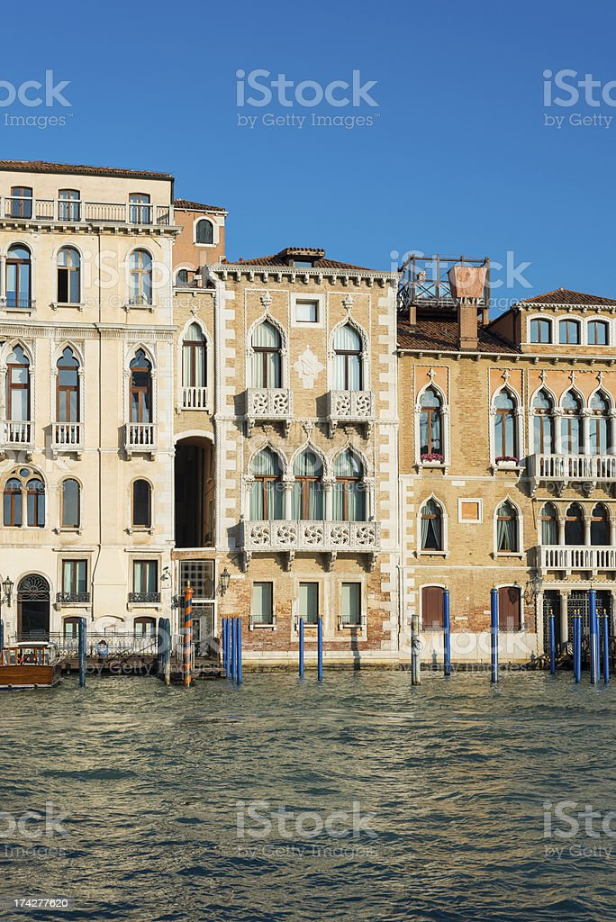 Building facades in Venice, Italy royalty-free stock photo