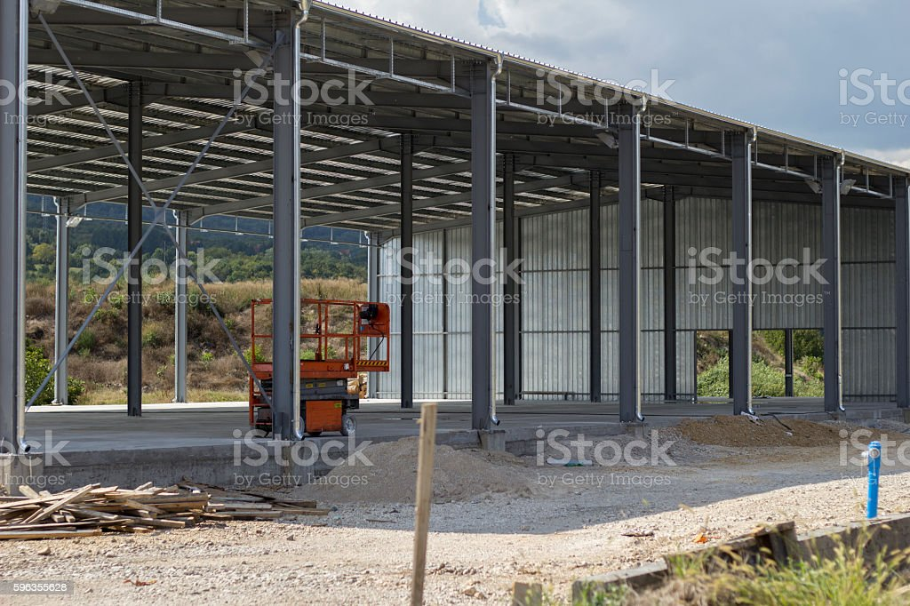 Building factory construction. royalty-free stock photo