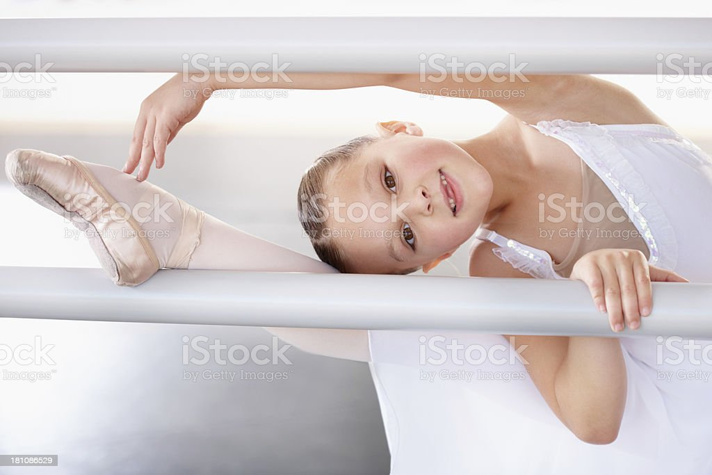 Building flexibility of the barre stock photo