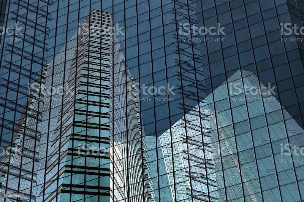 Building grid stock photo