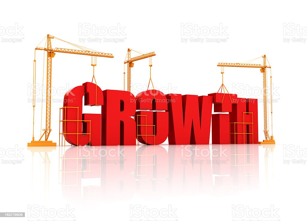 Building Growth royalty-free stock photo