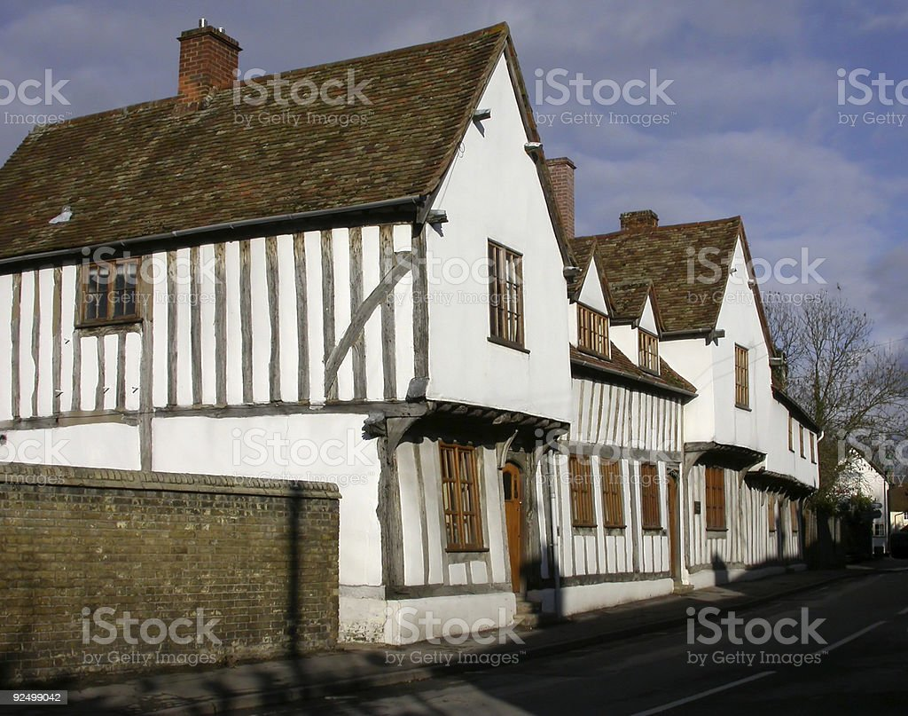 Building - Half Timbered Cottage royalty-free stock photo