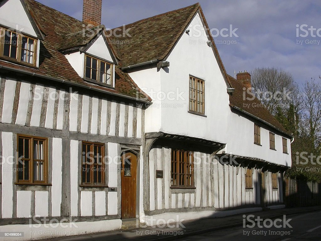 Building - Half Timbered Cottages royalty-free stock photo