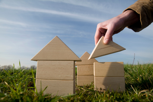 Building Houses Stock Photo - Download Image Now