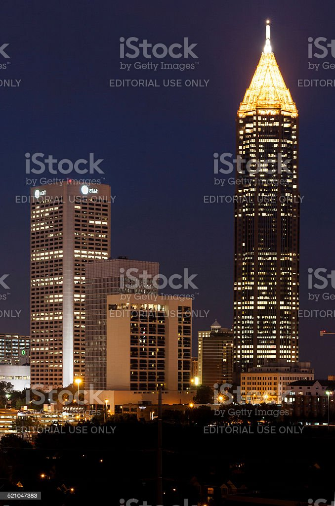 AT&T Building in Atlanta, GA stock photo