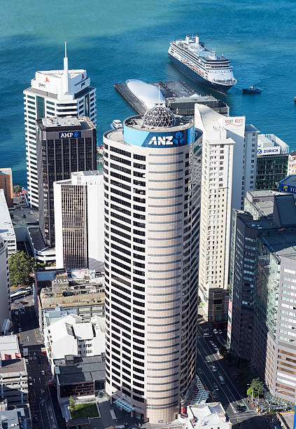 ANZ Building in Auckland's CBD stock photo