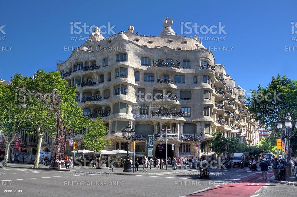 Building in Barcelona stock photo