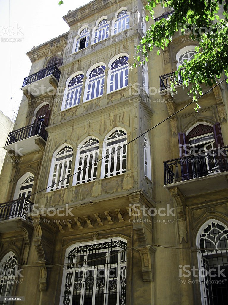 Building in Beirut stock photo