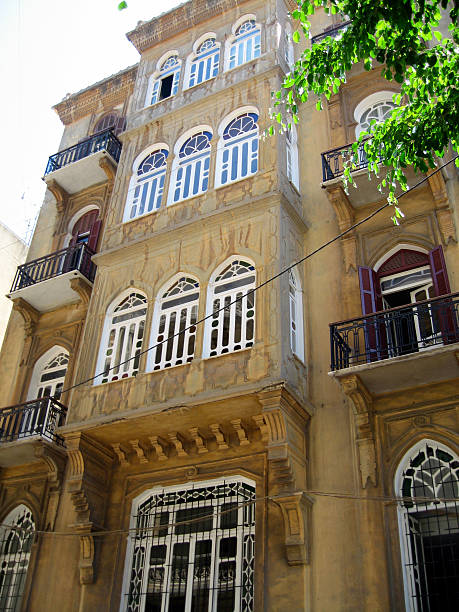 building in beirut - alintal stock pictures, royalty-free photos & images