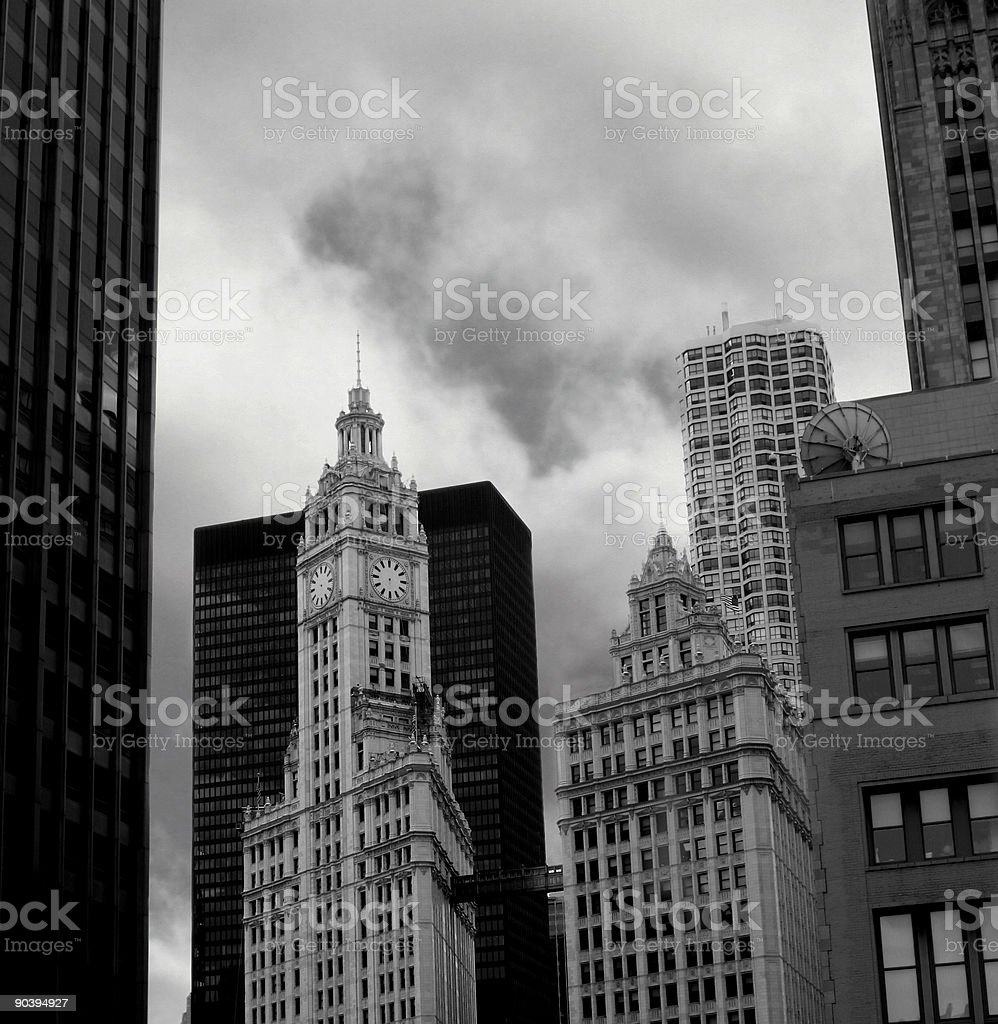 Building in black and white royalty-free stock photo
